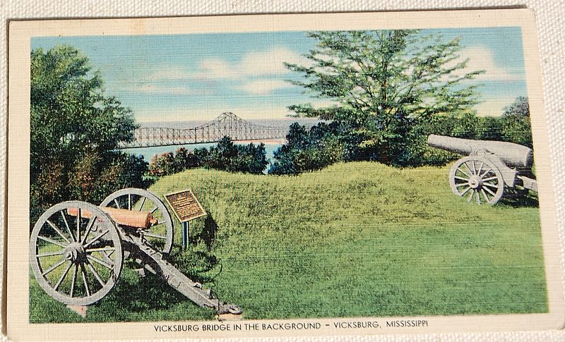 Vintage Postcard Vicksburg National Military Park Vicksburg, Mississippi