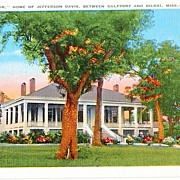 "Vintage "" Beauvoir "" Home of Jefferson Davis Postcard"