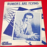 REDUCED 1946 Vintage Sheet Music Rumors Are Flying Perry Como