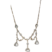 Vintage Gold Tone Crystal Bib Necklace