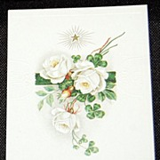 Vintage Embossed Birthday Greetings Postcard