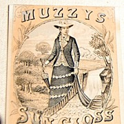 Muzzys Sun Gloss Starch Trade Card