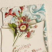 REDUCED Wonderful Vintage Tuck Christmas Card Embossed