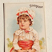 REDUCED Victorian Soapine Trade Card