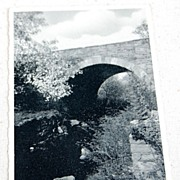 SALE 1941 Real Photo Postcard Arch Bridge Haag Grist Mill Angels Pa.