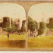 Stereophotography Stereoview: Kenilworth Castle Leicester Tower From The Three Kitchens