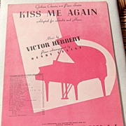 "REDUCED Vintage Sheet Music ""Kiss Me Again"""