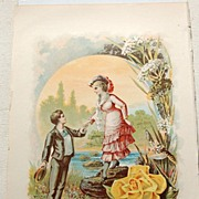 "1880's Chromo Lithograph ""Youth"""