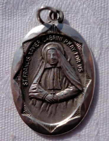 Sterling Silver St. Francis Xavier Cabrini Medal