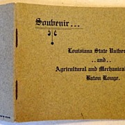 Vintage Soubenir Booklet Louisiana State University & Agricultural & Mechanical College Baton