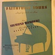 REDUCED Vintage Faithfully Yours Sheet Music