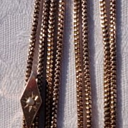 Vintage Gold Filled Slide Chain 10K Gold Slide