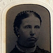 Victorian Tin Type Young Woman
