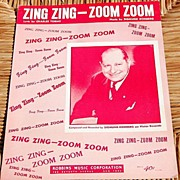 "REDUCED Vintage Sheet Music ""Zing Zing - Zoom Zoom"""
