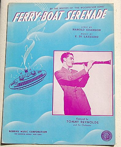 "1940 Vintage Sheet Music ""Ferry-Boat Serenada"""