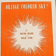 "REDUCED 1950 Vintage Sheet Music ""Orange Colored Sky!"""