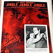 "REDUCED 1942 Vintage Sheet Music ""Jingle jangle Jingle"" I Got Spurs"