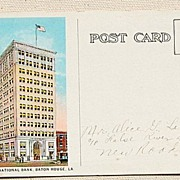 SALE 1927 Louisiana National Bank Post Card Baton Rouge Louisiana