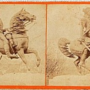 Bell & Bros. 1868 Stereophotography Stereoview  Equestrian Statue Of Washington