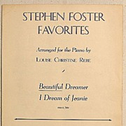 REDUCED 1940 Stephen Foster Favorites Beautiful Dreamer