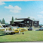 SALE Vintage Postcard Sky Lodge & Motel Moose River Maine