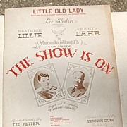 REDUCED Vintage 1936 Sheet Music Little Old Lady From The Show Is On