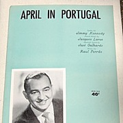 REDUCED 1953 Vintage Sheet Music April In Portugal