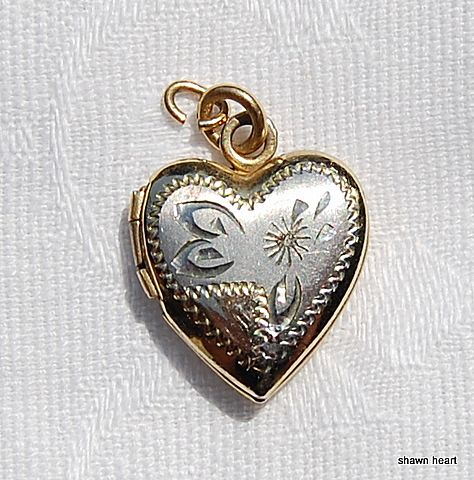 Vintage Gold Filled Heart Locket