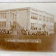 SALE 1915 Kinder Louisiana School Building Postcard