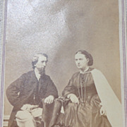 REDUCED Antique Victorian Cabinet Card Photo Of Couple