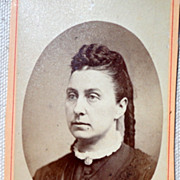 Antique Victorian Cabinet Card Young Lady