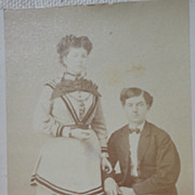 REDUCED Antique Victorian Cabinet Card Young Couple