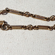 Victorian Fancy Link Gold Filled Pocket Watch Chain