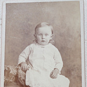 REDUCED Antique Victorian Cabinet Card  Full Figure Photo Young Boy