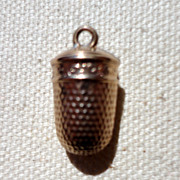Vintage Gold Filled Thimble Charm