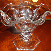 REDUCED Vintage Heisey Footed Sherbert Dish