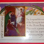 SALE Vintage Easter Greetings Witney Made Postcard