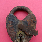 Vintage Metal Pad Lock