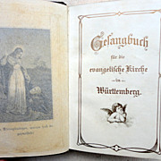 Vintage German Leather Prayer Book