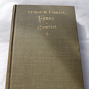 1891 Sursum Corda Hymns Of Comfort