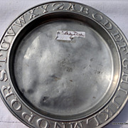 REDUCED Vintage Aluminum ABC Child's Plate