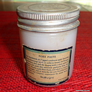 REDUCED Vintage Milk Glass Jar Dorothy Gray Pore Paste