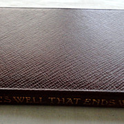 1906 The Temple Shakespeare's All's Well That Ends Well