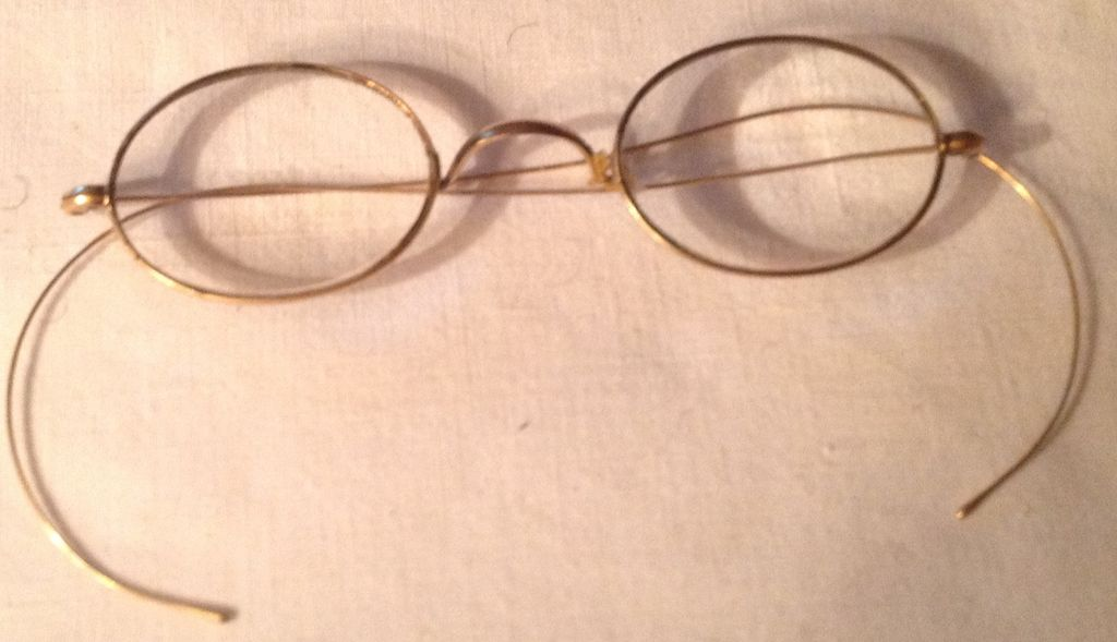 Vintage Gold Filled Rimmed Wire Eye Glasses from ...