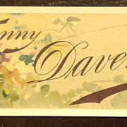REDUCED July 1888 - June 1889 Fanny Davenport Lithograph Book Mark