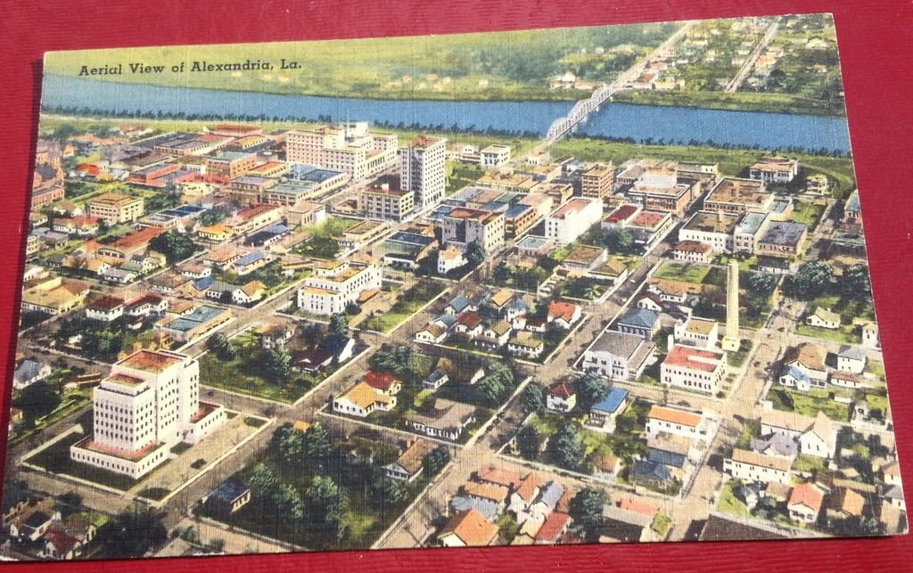 Vintage Greetings From Alexandria Louisiana Post Card