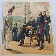 Victorian J. & P. Coats Spool Cotton Trade Card