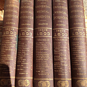SALE PENDING Five Volume Set 1893 Annual Of The Universal Medical Sciences