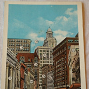 SALE Vintage The Wall Street Of New Orleans Post Card