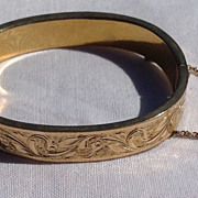 Vintage Gold Filled Child's Hinged Bangle Bracelet